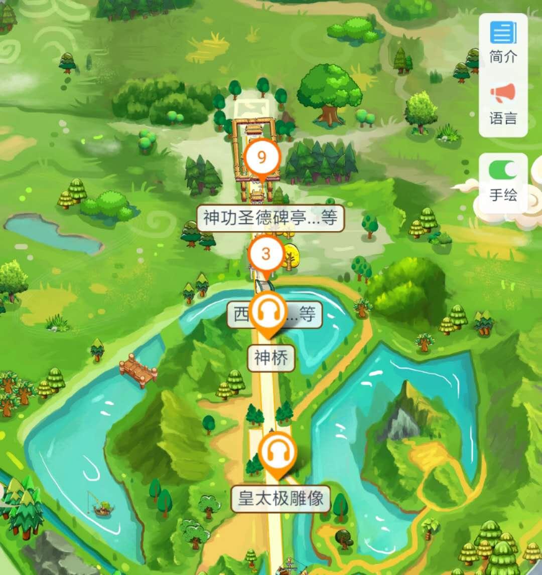辽宁沈阳北陵公园手绘地图、语音讲解、智能导览.jpg