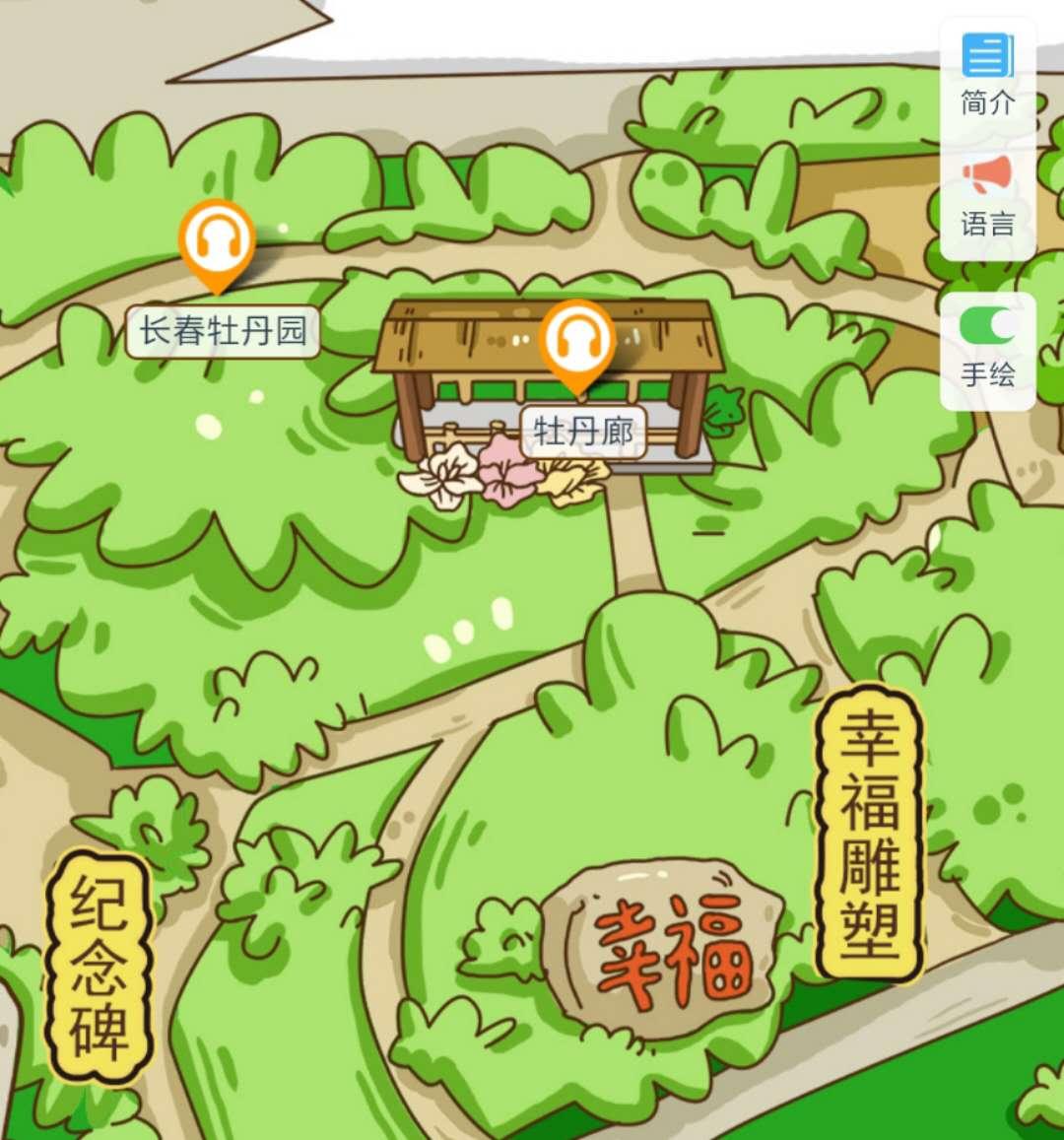 长春牡丹园手绘地图,语音讲解,智能导览.jpg