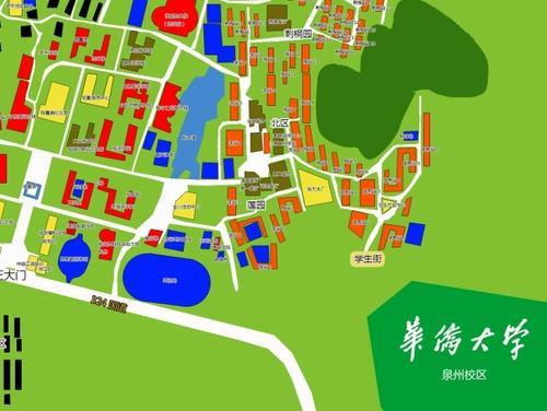 福建省泉州五店市少林寺、华侨大学手绘地图,智能导览系统上线.jpg