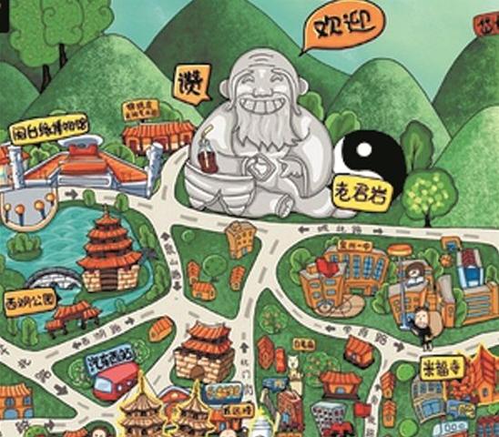 福建省泉州五店市少林寺、华侨大学手绘地图,智能导览系统上线.png