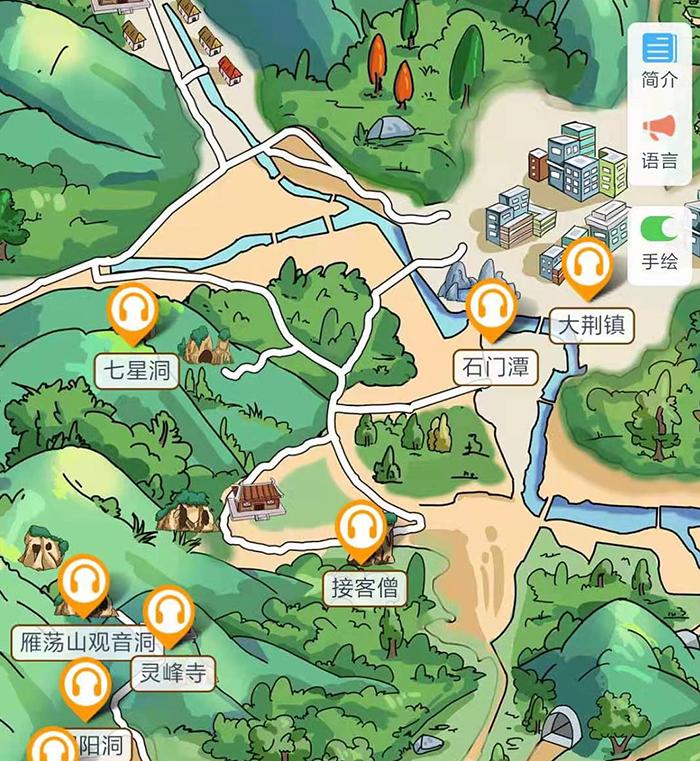 浙江温州北雁荡山手绘地图、语音讲解、电子导览等智能导览系统正式上线.png